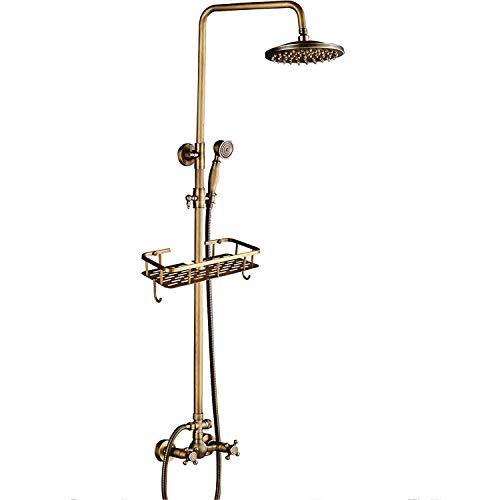 Rozin Messing Antik Dusche Wasserhahn mit Handbrause Duscharmatur 8 Zoll Duschkopf Regenduschkopf...