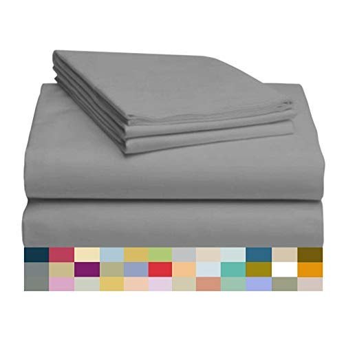 RRlinen 4PCs 800-Thread-Count 100% Cotton Bed Sheets, Short Queen Aqua Sheet Set, Single Ply Long-Staple Yarns, Fits Mattress Up to 18'' Deep Pocket Best-Bedding (Aqua Short Queen Sheets)