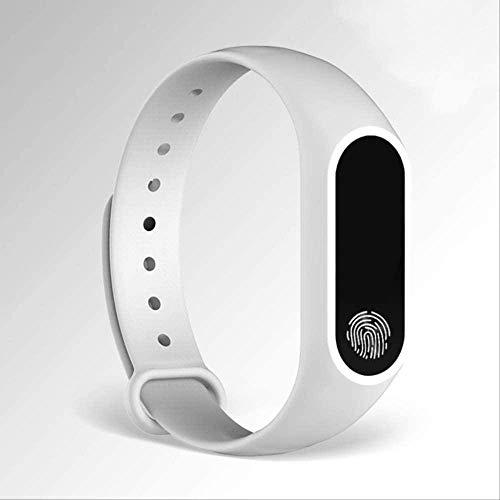 Moda Hombres Mujeres Casual Deportes Relojes de Pulsera Blanco Led Electrónica Digital Color Caramelo Reloj de Pulsera de Silicona Para Niños Niños-Blanco