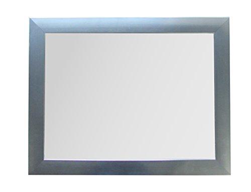 King Home S1710844 Wandspiegel mit Rahmen, Silver, 30X40H