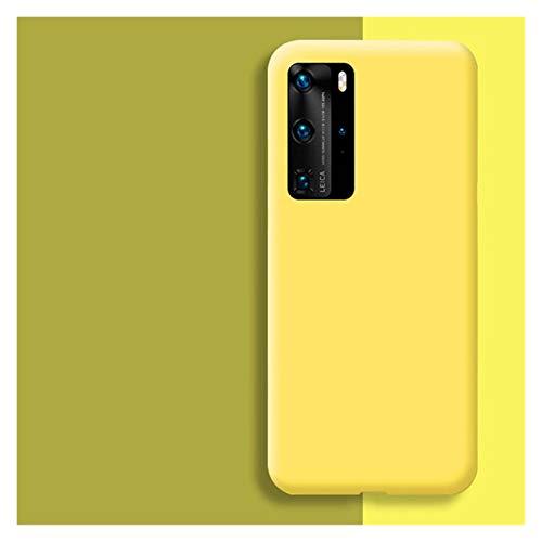 Protector de pantalla de silicona líquida original para Huawei P30 P20 P40 Mate 20 30 Honor 20 Lite Pro P Smart 2019 Funda protectora suave de lujo (color: amarillo, tamaño: para Honor 10 Lite)