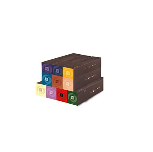 Nespresso Coffee Pods 10 Capsules 1 Sleeve VertuoLine Vertuo Line Single Serve Intenso/Double Espresso/Gran Lungo/Limited Edition ALL FLAVORS (100 Pods Indulgent Variety Pack)