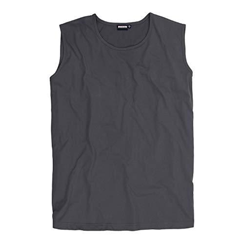 ADAMO Camiseta para hombre sin mangas con cuello redondo, serie Rod, color gris, tallas 2XL hasta 10XL gris XXXXXXXXXL