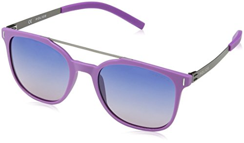 Police Gafas de sol polarizadas SPL169 Wager 1 ovaladas Morado Semi Mate Violeta Claro 52mm