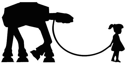 Banks Mädchen mit Krieg der Sterne Puppy Maßnahmen 15,2x 7,6cm Auto Van-Biker-Aufkleber-Free P & P