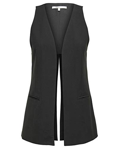 Only Giacca Gilet Lungo Donna onlNEO Pretty Long Vest Black (IT 38)