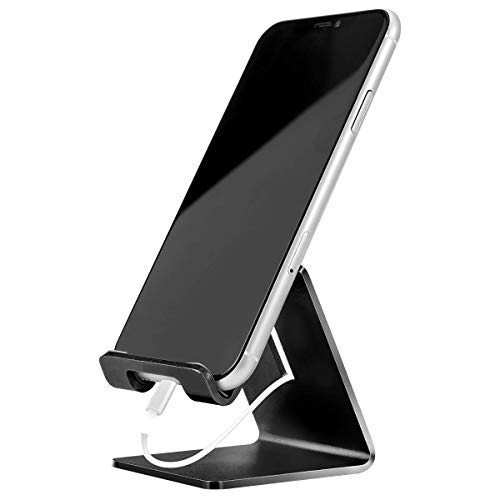 Cell Phone Stand Holder - Urmust Z1 Aluminum Desktop Solid Portable Universal Desk Stand Compatible with All Mobile Smart Phone Huawei iPhone X 8 7 6 Plus 5 Ipad Mini Tablet Office Decor (Renewed)
