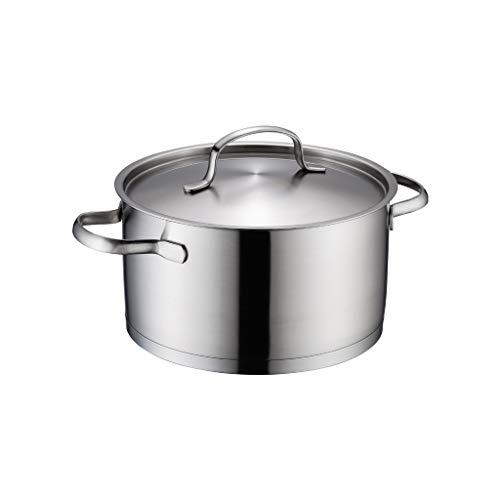 JXLBB 4L grande capacité 304 en acier inoxydable pot de soupe épaississement composite fond cuisinière à induction universelle 22CM petit pot de soupe