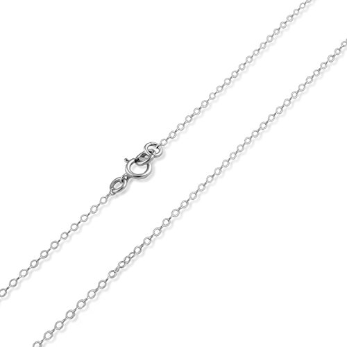 Nostrand Sterling Silver 1mm Cable Chain (15 Inches)