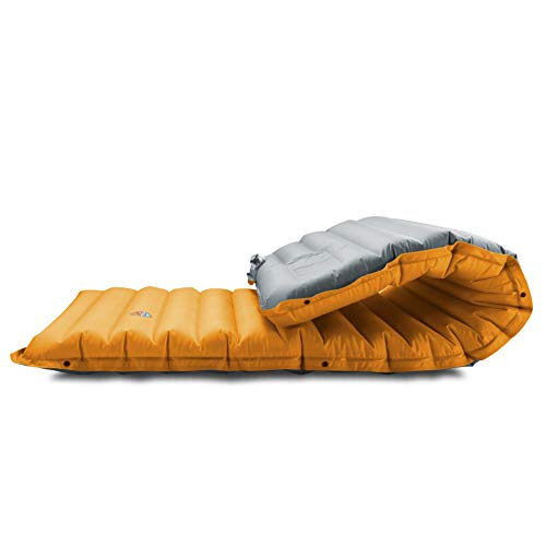 ZOOOBELIVES Extra Thickness Inflatable Sleeping Pad with Built-in Pump, Most Comfortable Camping...