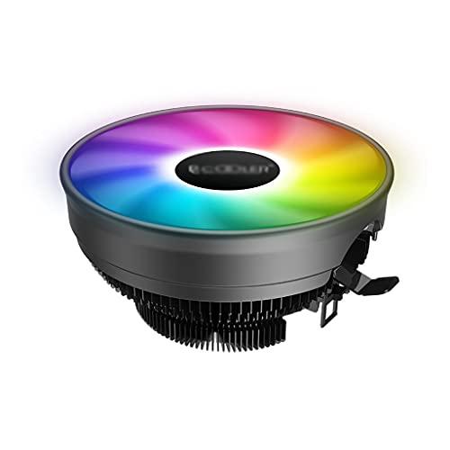 LLRZ Centilador CPU CPU LED Cooler 120 mm Fans PWM silencioso Arco Iris CPU Ventilador Universal Cojinete hidráulico Compacto CPU Refriador Sistema Refrigeración