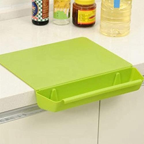 2 in1 Creative Frosted Cutting Board Kitchen Cutting Board with Slot Cutting Vegetable Meat Tools Kitchen Stuff Accessories-GR
