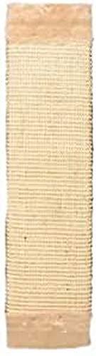 Trixie 43071 Kratzbrett mit Plüsch, 15 × 62 cm, natur/beige
