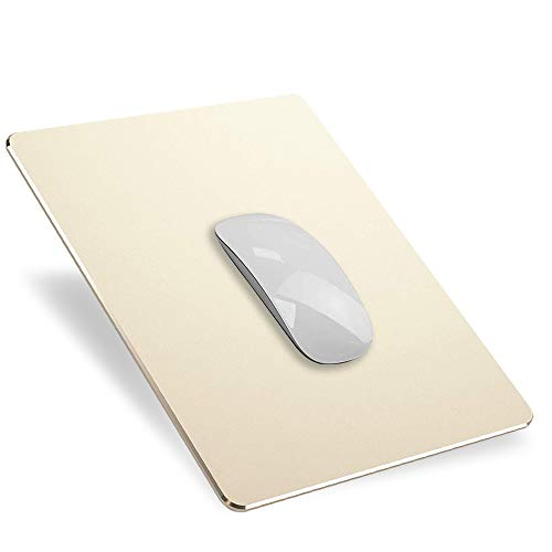 YiYunTE Alfombrilla de Ratón Aluminio Gaming PC Alfombrilla para Ratón Metalica Mouse Pad con Base PU Goma Impermeable Cojín de Ratón Lavable Antideslizante MousePad para Ordenador Portátil Of