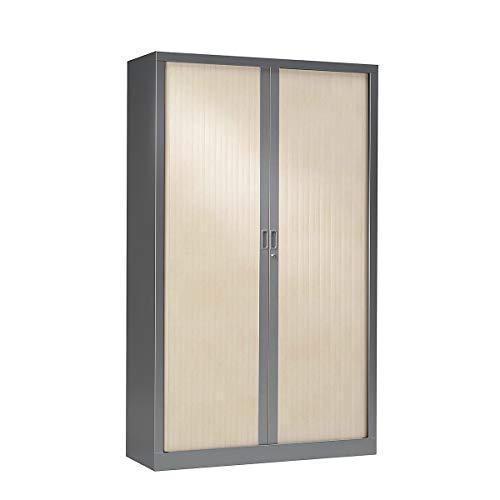 Armoire à rideaux ignifuge M1 | Anthracite | Erable | HxLxP 1980 x 1200 x 430 | Pierre Henry -