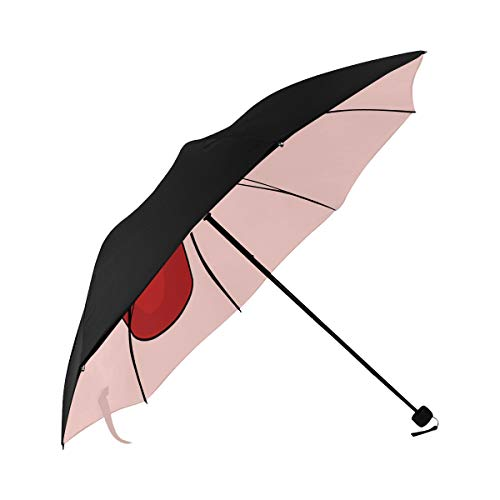 Best Umbrella Compact Summer Cool Soda Water Bottle Straw Underside Printing Uv Umbrella Protection Sun Ladies Umbrella Compact Fun Travel Umbrella With 95% Uv Protection For Women Men Lady Girl
