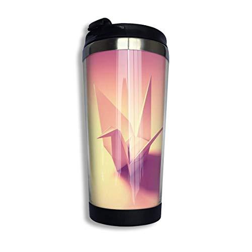 Kaffee Thermoskanne Origami Vogel Edelstahl Reisebecher Tasse Wasserflasche