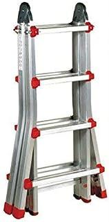 comprar comparacion Escalera Articulada Telescópica Plegable 4+3 en 2 Tramos Profesional de Aluminio. Escada Articulada Telescópica (Hasta 14 ...
