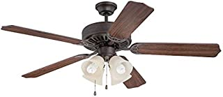 Craftmade K11109 Protruding Mount, 5 Walnut Blades Ceiling fan with 39 watts light, Aged Bronze Textured