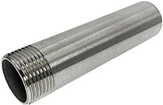 DZF697 1 pc DN8-DN50 BSP Longueur du Fil mâle 10 0MM-300MM 304 Connecteur de couplage de môles de Soudure d'acier Inoxydab...