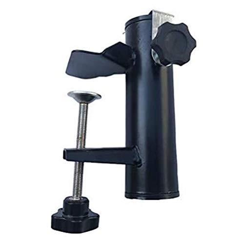 Leikance Sonnenschirmhalter Clip, Stahl Balkon Schirmständer Schirmhalter für eckige Balkonstange