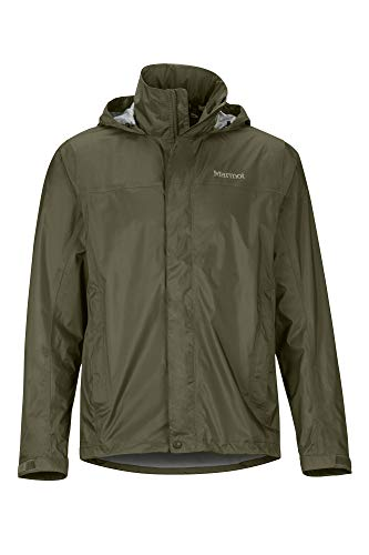 Marmot Men's PreCip Eco Jacket, Waterproof Jacket, Lightweight Hooded Rain Jacket, Windproof Raincoat, Breathable Windbreaker, Ideal for Running and Hiking, Nori, M