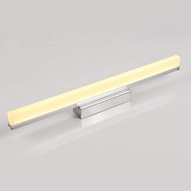 Badezimmerbeleuchtung Led Spiegel Scheinwerfer, wasserdicht Anti-fog Badezimmer Badezimmer Spiegel Licht Wand Lampe Spiegel Schrank Lichter Licht (Farbe   Warm-Weiß-12w-49cm)