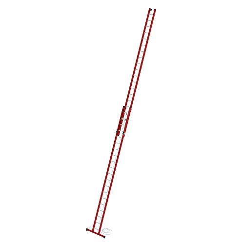 Kunststoff-Schiebe- u. Seilzugleiter mit Standtraverse 2 x 20 Sprossen Arbeitshöhe bis ca. 11,40 m