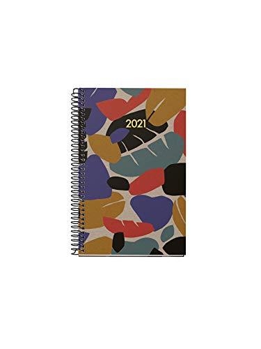 MIQUELRIUS - Agenda 2021 100% RECICLADA Hojas - Catalán, Día Página, Tamaño 117 x 182 mm, Papel 70g, Cubierta Rígida Cartón Forrado, Color Craft ✅