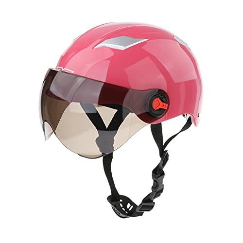Half Open Face Motorcycle Helmet, Adjustable 56-62cm Head Circumference...