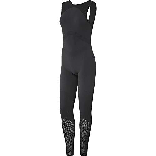 adidas Warp Knit Onesi Mono, Mujer, Gris (Carbon/Negro), M