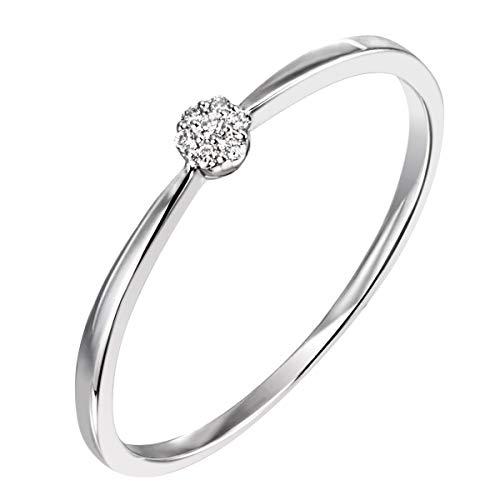 Goldmaid Ring Brillantring 925 Sterlingsilber 7 echte Brillanten zus. 0,04 ct. (52 (16.6))