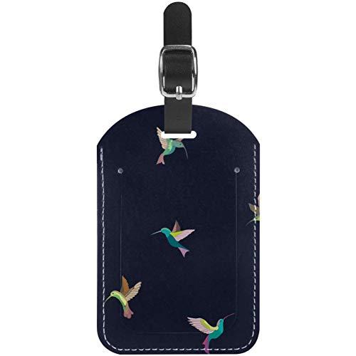 Etiquetas de equipaje de color con diseño de pájaros voladores para maleta...