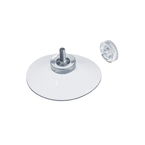 DIYexpert® 20 x ventosa Ø 50 mm con rosca M4 x 10 mm incluye tuercas moleteadas transparente – Fabricado en Alemania