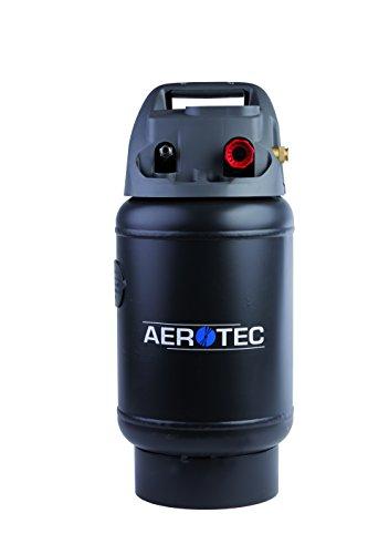 Aerotec 2009592 Mobiler Drucklufttank TANKY | Zusatztank mit 14l Volumen | universell passend zu handelsüblichen Kompressoren | Druckregler bis 10 bar, Schwarz