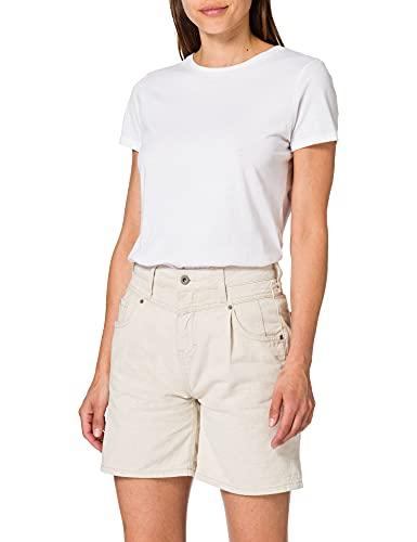 MUSTANG Damen Bermuda Jeans-Shorts, beige, 26W