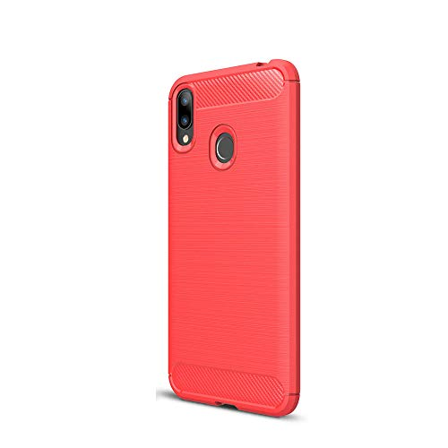 LAGUI Hülle Passend für Asus Zenfone Max M2 ZB633KL, Ultradünne Elegantes Flexibles TPU Anti-Scratch Schutzhülle. rot