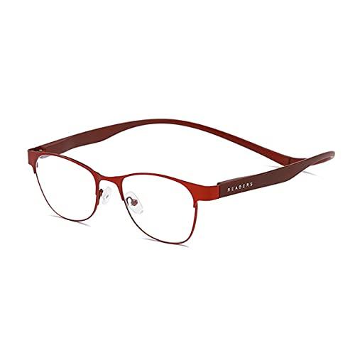 Accurate Gafas de bloqueo de luz azul, conexión trasera, gafas de lectura magnéticas magnéticas para hombres y mujeres (vino, 1.5X)