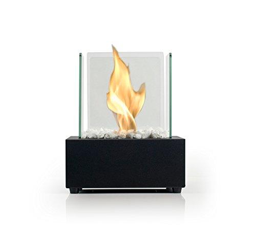Bio Fires - Glass Cube II Black Bio Ethanol Burner