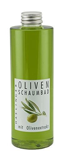 Lashuma Oliven Pflege Schaumbad mit Natürlichem Olivenextrakt, Entspannendes Wellness Bad 400 ml, Beauty Bade Schaum