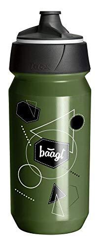 Baagl Trinkflasche für Kinder, Schule 0.5l - ECO Wasserflasche BPA Frei und Auslaufsicher - Sport Flasche für Fussball und Gym (Green)