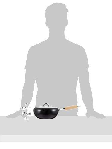タマハシ『イエローラインIH対応片手天ぷら鍋20cm(蓋付)』
