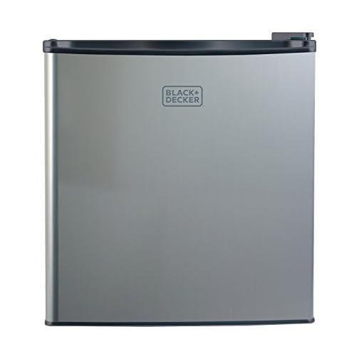 BLACK+DECKER BCRK17B Compact Refrigerator Energy Star Single Door Mini Fridge with Freezer, 1.7 Cubic Feet, Black 4