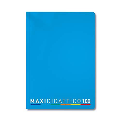 5 Quaderni Maxi Didattico, Azzurro, 5mm doppio spazio, 5 Pezzi