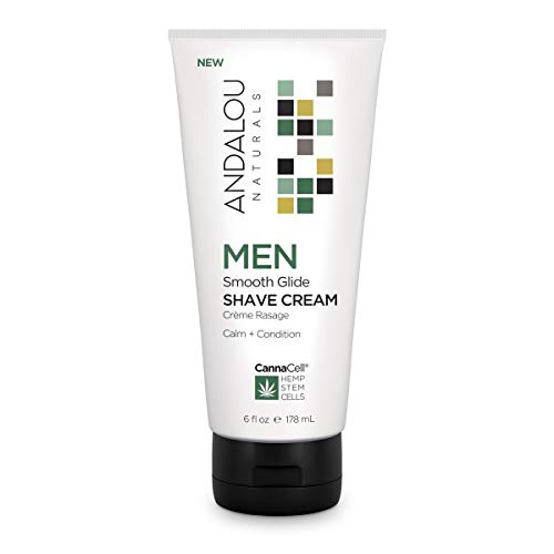 Andalou Naturals Men Smooth Glide Shave Cream, 6 Ounce