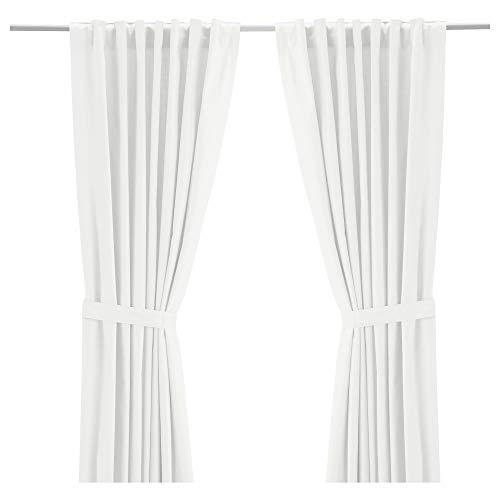 IKEA.. 003.235.14 Ritva Curtains with Tie-Backs, 1 Pair, White