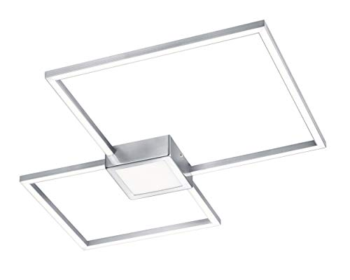 Trio Leuchten Hydra 676210307 LED Deckenleuchte, Metall, 28 Watt, Nickel Matt, Switch Dimmer