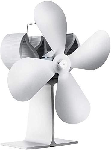NAYY Holzofen Fan Hitze angetrieben, 4 Blatt Kamin Ventilator for Holzofen Holzofen Kamin - Eco freundlich und effizient Fan mit Thermometer
