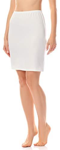 Merry Style Damen Unterrock Petticoat für Röcke MS10-204 (Ecru, M)