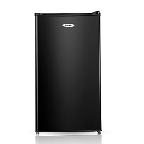 COSTWAY 91 litros Capacidad Refrigerador Nevera Frigorífico Eléctrico Congelación Refrigeración (Negro)